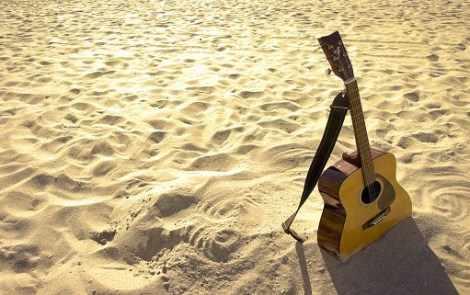 guitar-in-sand