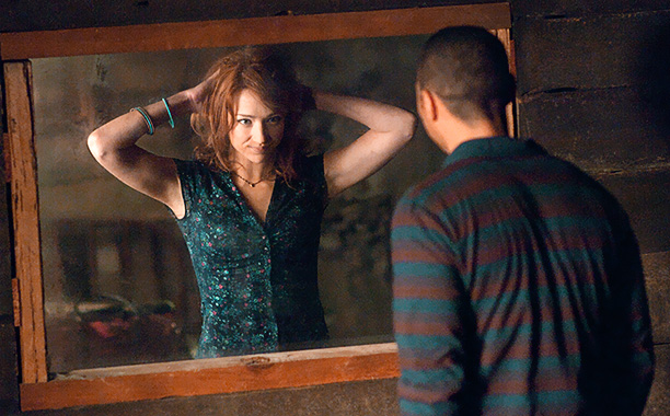 THE CABIN IN THE WOODS (2012) L-R Kristen Connolly and Jesse Williams