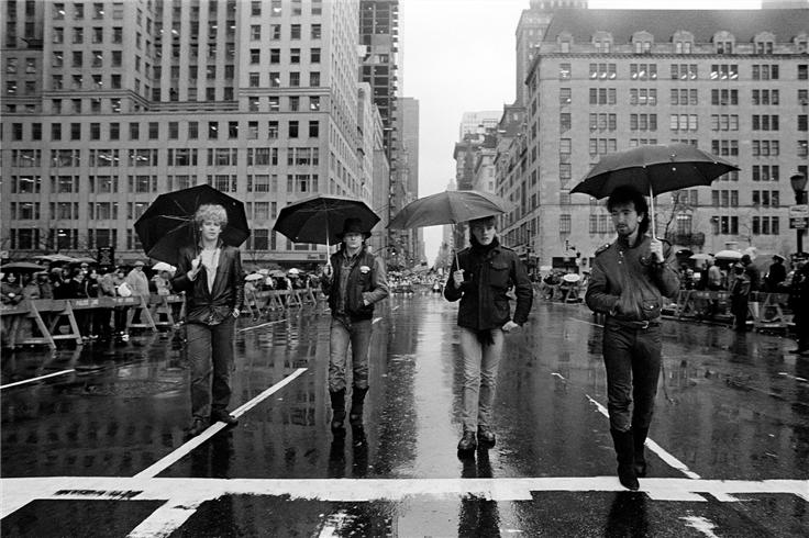 U2-St Patrick's day Parade new york city NEW YORK CITY, 1982