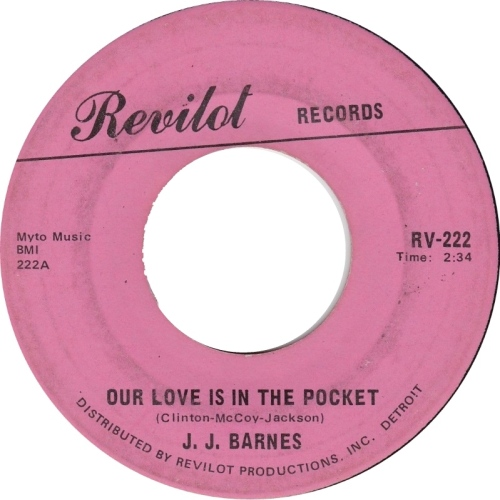 JJ Barnes Out Love is in the Pocket, Best Northern Soul Music Monday