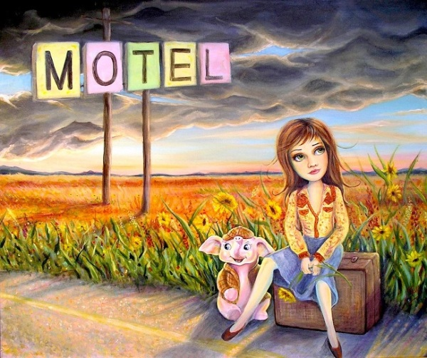 Five more miles to the Pink Hotel (we're almost there) - A Monday Playlist Cover Art by Kelly Haigh