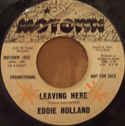 45 Single Eddie Holland Leaving Here Northern Soul Monday