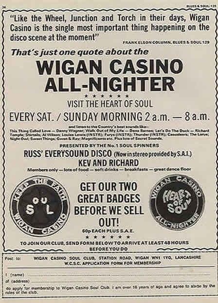 Wigan Casino Northern Soul Monday History