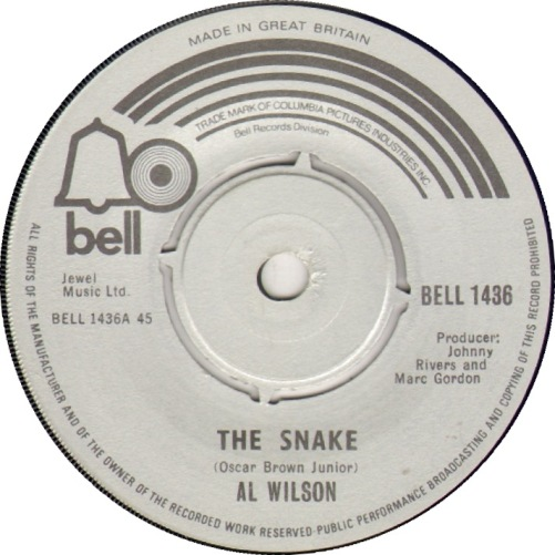 Al Wilson the Snake Northern Soul Single Bell