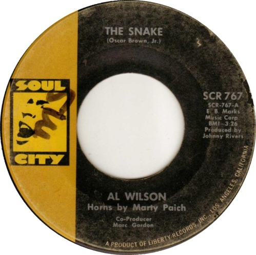 Al Wilson The Snake Original Single