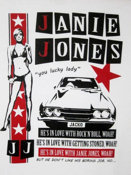 Janie Jones poster The Clash Song of the Day