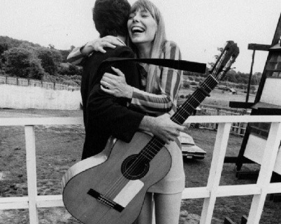 Joni Mitchell and Leonard Cohen