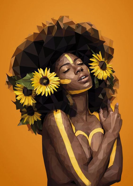 Sunflower Woman by Verena Tapper